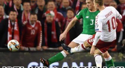"""มาเหนือ! """"อิริคเซ่น"""" กดแฮตทริกช่วยให้เดนมาร์กบุกถล่มไอร์แลนด์ 5-1"""