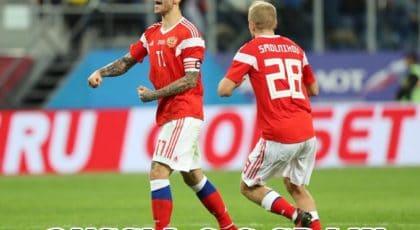 """""""สโมลอฟ"""" ยิงเบิ้ลช่วยให้รัสเซียไล่ตีเสมอสเปนไปแบบสุดมันส์ 3-3"""