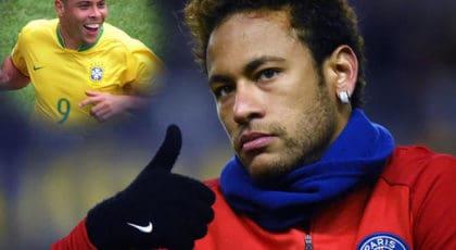 """""""โรนัลโด"""" ตำนานทีมชาติบราซิลชี้ว่า """"เนย์มาร์"""" ได้ก้าวถอยหลังเมื่อย้ายซบเปแอสเช"""