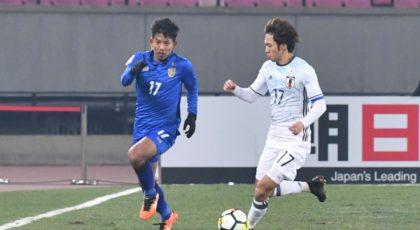 """""""ช้างศึกยู-23"""" เสียประตูท้ายเกมพ่ายญี่ปุ่น 0-1 ร่วงรอบแรกชิงแชมป์เอเชีย"""